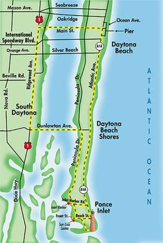 Florida Beaches Map.171 Best Daytona Beach Florida Images On Pinterest In 2019