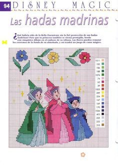 cross stitch of sleeping beauty's castle | Cross Stitch