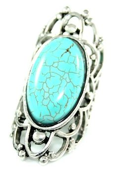 Zest Large Turquoise Oval Ring
