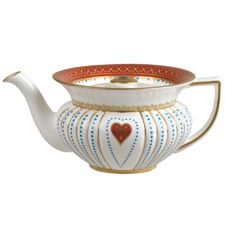 Wedgwood Queen Of Hearts Teapot. Lovely shape... off with their heads...!