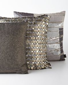 Shop Montclair Pillows from Aviva Stanoff at Horchow, where you'll find new lower shipping on hundreds of home furnishings and gifts. Diy Pillows, Custom Pillows, Accent Pillows, Throw Pillows, Scatter Cushions, Decorative Cushions, Decorative Accessories, Home Accessories, Rideaux Design