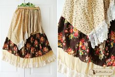 I like the layering in the skirt. Something to try with different print combos.