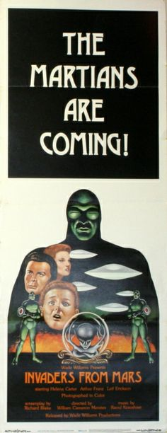 Invaders from Mars, 1953 - original vintage film poster for a horror sci-fi movie, Invaders from Mars, starring Helena Carter, Arthur Franz and Jimmy Hunt, listed on AntikBar.co.uk