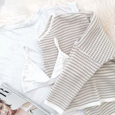 Beige Stripe Knit | #SaboSkirt  Colour pallet on point