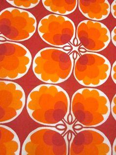 Original 1970s Fabrics on Ebay via Pomme de Jour Blog