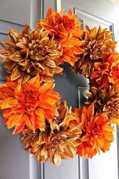 easy fall wreath in 5 minutes, crafts, seasonal holiday decor, wreaths