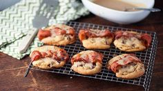 Bacon-wrapped chocolate chip cookies drizzled with a maple bourbon glaze are a sweet and savory treat.