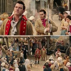 """Beauty and the Beast"" - Gaston courts Belle - Deleted scenes 🎬🌹👧🦁 #beautyandthebeast #labellaylabestia #belle #bella #gaston #lefou #emmawatson #lukeevans #joshgad #disney"
