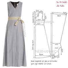 18 New Ideas For Sewing Simple Dresses Patrones Dress Sewing Patterns, Sewing Patterns Free, Clothing Patterns, Pattern Dress, Fashion Sewing, Diy Fashion, Sewing Clothes, Diy Clothes, Costura Fashion