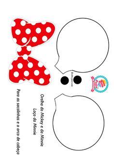 Molde da orelha do Mickey Mouse e o laço da Minnie - passo a passo (DIY)