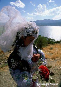Kurdish bride ~ Zarivar Lake, Islamic Republic of Iran [photo by Alexandra Avakian/National Geographic Society]....