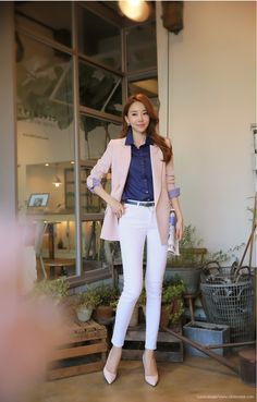 27 Perfect Work Outfit Inspiration for Women * remajacantik Office Outfits Women, Stylish Work Outfits, Business Casual Outfits, Professional Outfits, Edgy Outfits, Korean Outfits, Classy Outfits, Corporate Fashion, Corporate Attire