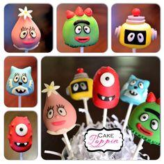 Yo Gabba Gabba cake pops www.facebook.com/cakepoppin