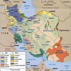 Iran Politics Club: Iran Ethnic, Population & Attractions Maps 15: Languages, Tourist Attractions