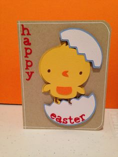 Easter card using create a critter cartridge.