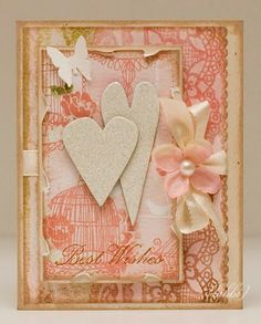 card with hearts and flower, could be Mother's Day card