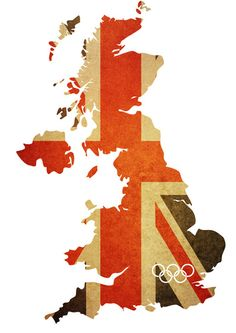 Union jack map. #Olympics. Hope Britains need for self deprication doesn't stop them putting on a once in a life time show. Wish I was there.