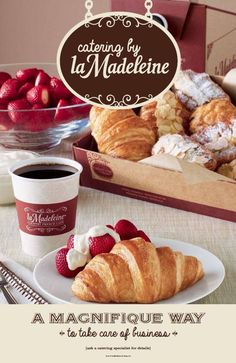 relax and enjoy your soirée with catering by la Madeleine