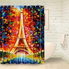 Foog Shower Curtain Painting City Landmark Eiffel Tower S... https://www.amazon.com/dp/B01N4DJWVT/ref=cm_sw_r_pi_dp_x_IsswybYW6PEPD