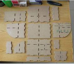 Hand Made Cardboard Stationery Box Diy Desktop Organizer, Desktop Organization, Craft Organization, Diy Cardboard Furniture, Cardboard Crafts, Cardboard Organizer, Home Design Magazines, Diy And Crafts, Easy Diy