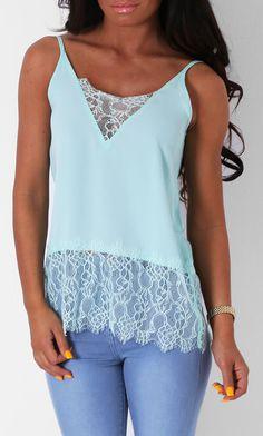 Pink Boutique Sakuna aqua blue  #lace #top http://www.pinkboutique.co.uk/new-in/sakuna-aqua-lace-top.html #pinkboutique