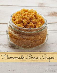 Homemade brown sugar. Have you ever wanted to make something that needed brown sugar but then you realize you don't have any or don't have enough? You'll never run out of  brown sugar with this recipe!