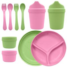 Green Sprouts Dinner Ware Multi-Pack - Made from plants, this Green Sprouts Dinner Ware Multi-Pack is petroleum free!Features: Multi-use di Plastic Ware, Cooking Gadgets, Dinner Sets, Natural Baby, Hand Painted Ceramics, Carnival Glass, Home Repair, Ceramic Bowls, Sprouts