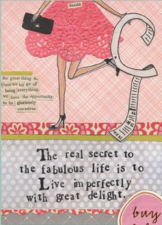 Let go of being everything=opportunity to be ourselves!   Curly Girl Design http://www.curlygirldesign.com/