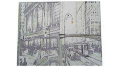 Tela para parede City. Medidas: 160 x 135 cm Ref.:09. http://www.moradamoveis.com/
