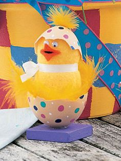 Easter Craft: Chicks-in-the-Shell