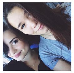 Demi and Madison, Madison is her sister just in case you did not know.