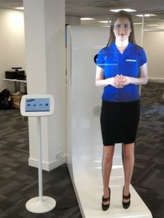 This lovely Virtual Mannequin is welcoming you to our Showroom in Shoreditch #doohdas
