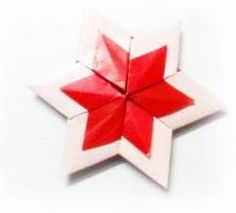 Origami 6 point star (Star of David)