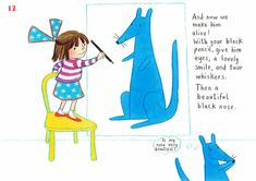 How to draw… blue kangaroo | Children's books | The Guardian Book Sites, Lovely Smile, You Draw, Black Pencil, The Guardian, His Eyes, Kangaroo, Childrens Books, Lily