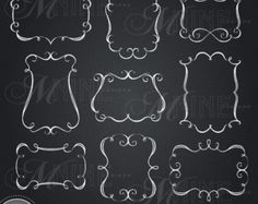 CHALKBOARD Clip Art: Chalk FLOURISHES Clipart by MNINEDESIGNS