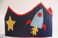 felt crown rocketship