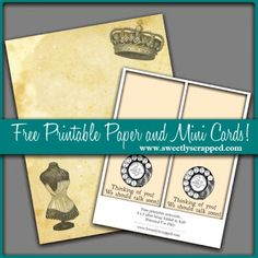 free printable paper and mini cards by sweetly scrapped