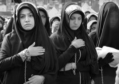 Istanbul, Turkey - October 11, 2016: Shia Muslim women mourn during Ashura. Turkish Shia Muslims mourning for Imam Hussain. Caferis take part in a mourning procession marking the day of Ashura in Istanbul's Kucukcekmece district, Turkey on October 11, 201 Cute Kids Photos, Cute Pictures, Day Of Ashura, Battle Of Karbala, Karbala Photography, Cute Muslim Couples, Shia Islam, Imam Hussain, Muslim Women