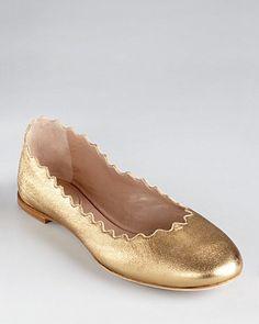 Chloé Scalloped Ballerina Flats - Lauren | Bloomingdale's