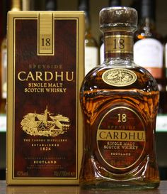 Cardhu Scotch Whisky. Speyside is home to the Malt whisky trail and over half of Scotland's whisky distilleries.