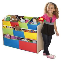 $49.89 Delta Children's Products Multi - Color Deluxe Toy Organizer with Bins.