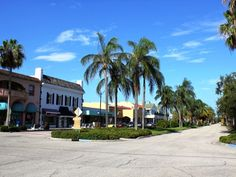 Historic Downtown Venice, FL. Unique shops, galleries and boutiques.  Oh my, this brings memories of when Venice was a 'fishing village' near the town of Osprey, South of Sarasota!