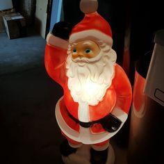 Santa Blow Mold Christmas 41in Vintage Illuminated
