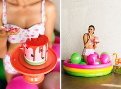 An adult cake smash was a MUST for this fun 30th birthday party!