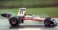 José Carlos Pace - Bang & Olufsen Team Surtees - Surtees TS16, vying for the 1974 Belgian Grand Prix at Nivelles circuit ...