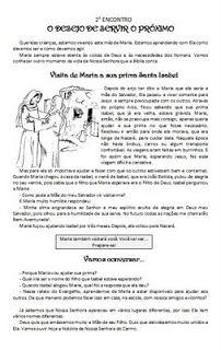 """Catequese com Carinho: Encontros sobre """"Maria"""""""