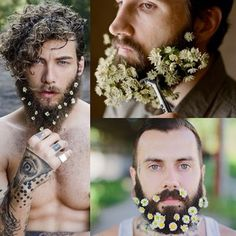 Ok, I'm putting this in 'Projects to Try' - chaps I know who possess facefuzz, consider yourselves warned!  Guys Are Decking Their Beards Out With Flowers And It'll Probably Give You A Pinterestgasm