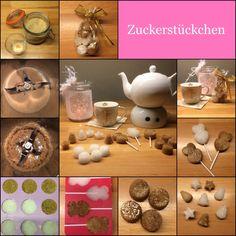 Zuckerstückchen * Zucker am Stiel 300 g Zucker, gerne braunen 2 EL Wasser Silikonförmchen wer mag: Lebensmittelfarben Zucker und Wasser in den Mixtopf geben und 10 sec / Stufe 3 vermis...