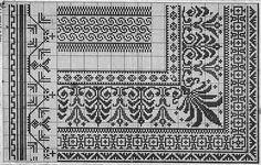 Cross Stitch Borders, Cross Stitch Charts, Cross Stitch Patterns, Sewing Patterns, Crochet Patterns, Art Nouveau Pattern, Chart Design, Border Design, Crochet Yarn