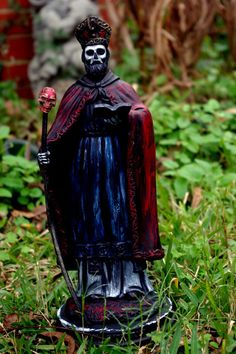San Cipriano Saint Cyprian The Necromancer by IsleBrevelleBotanica, $125.00